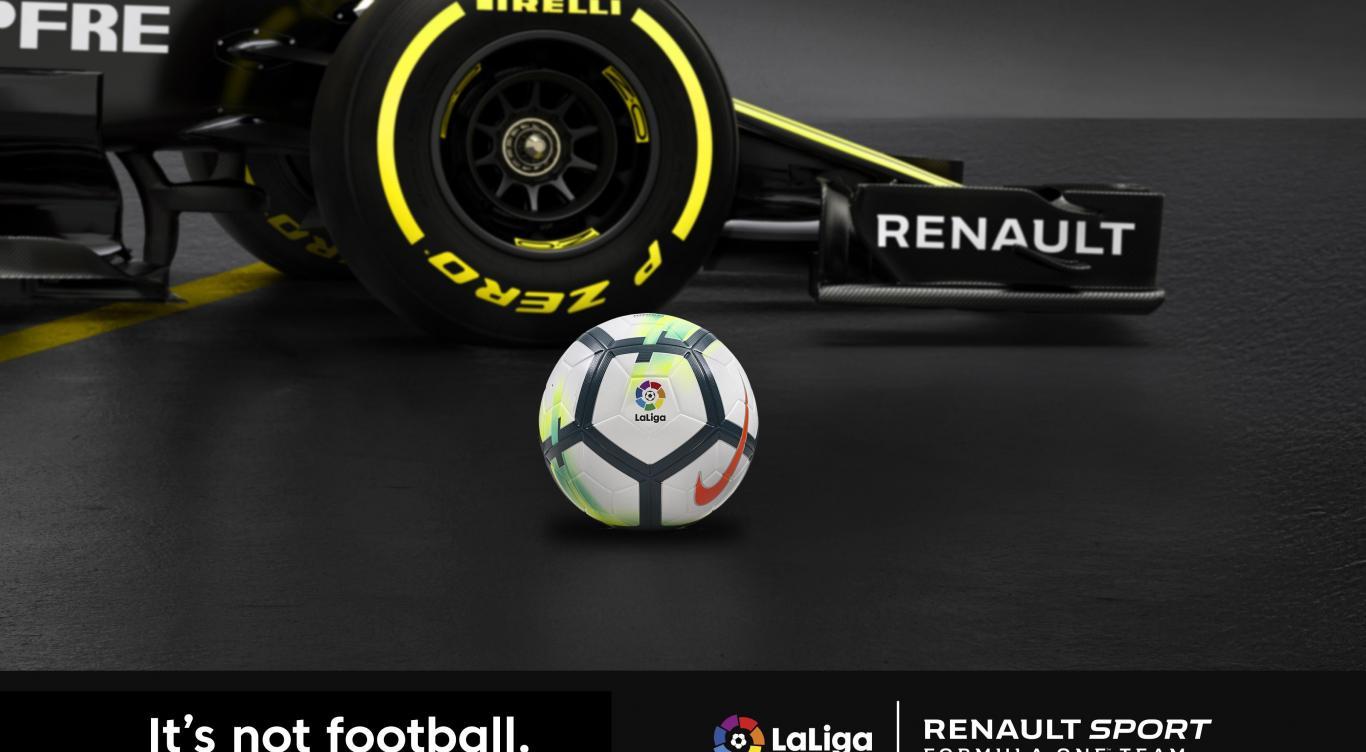 Renault Sport F1 Team et LaLiga signent pour toucher encore plus de fans