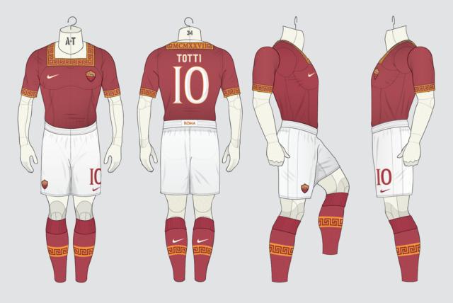 Les 12 plus beaux maillots de l'AS Roma imaginés par des fans