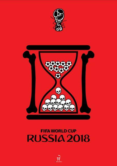 Une série d'affiches chocs sur la Coupe du Monde en Russie