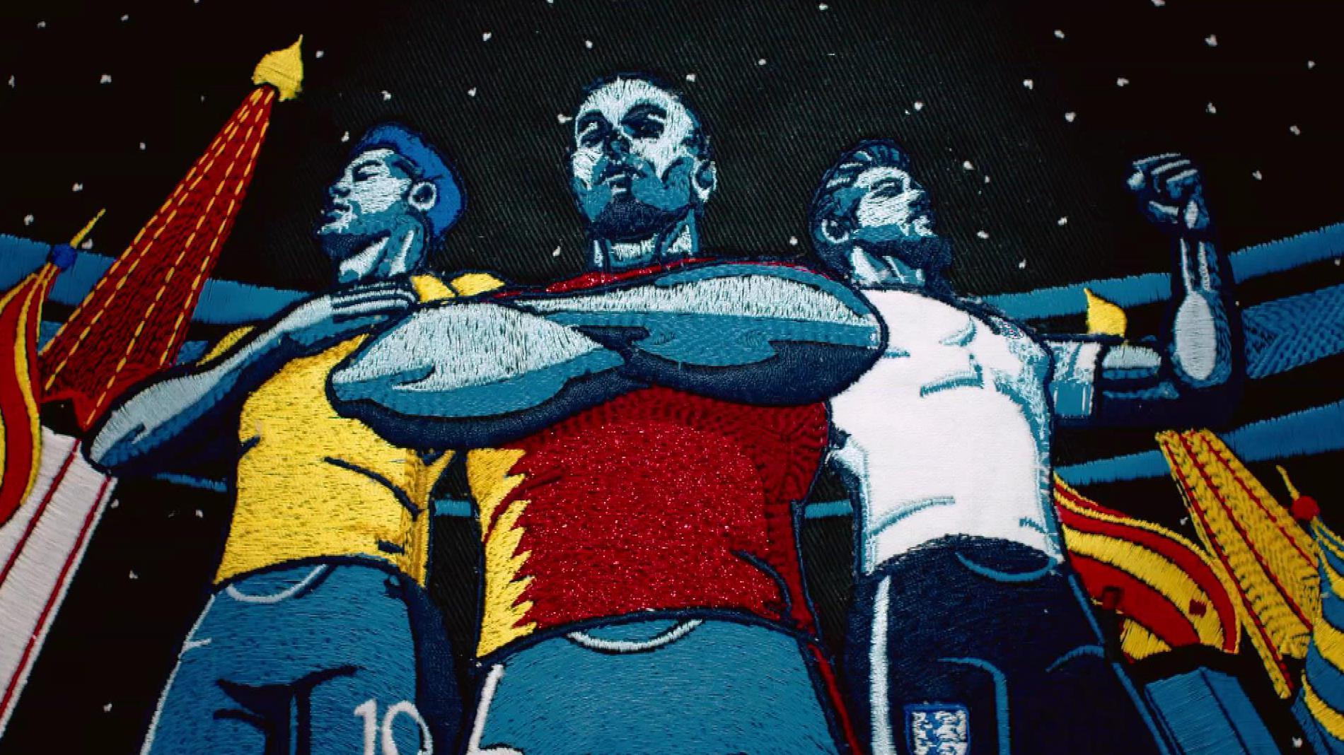 La BBC a réalisé une tapisserie animée pour la Coupe du monde