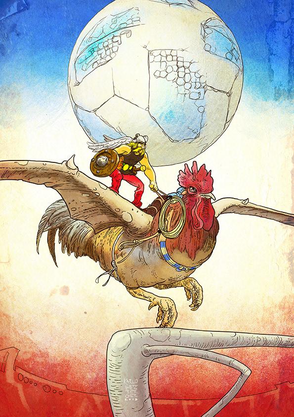 Un artiste argentin crée des personnages de dessins animés pour les pays du Mondial