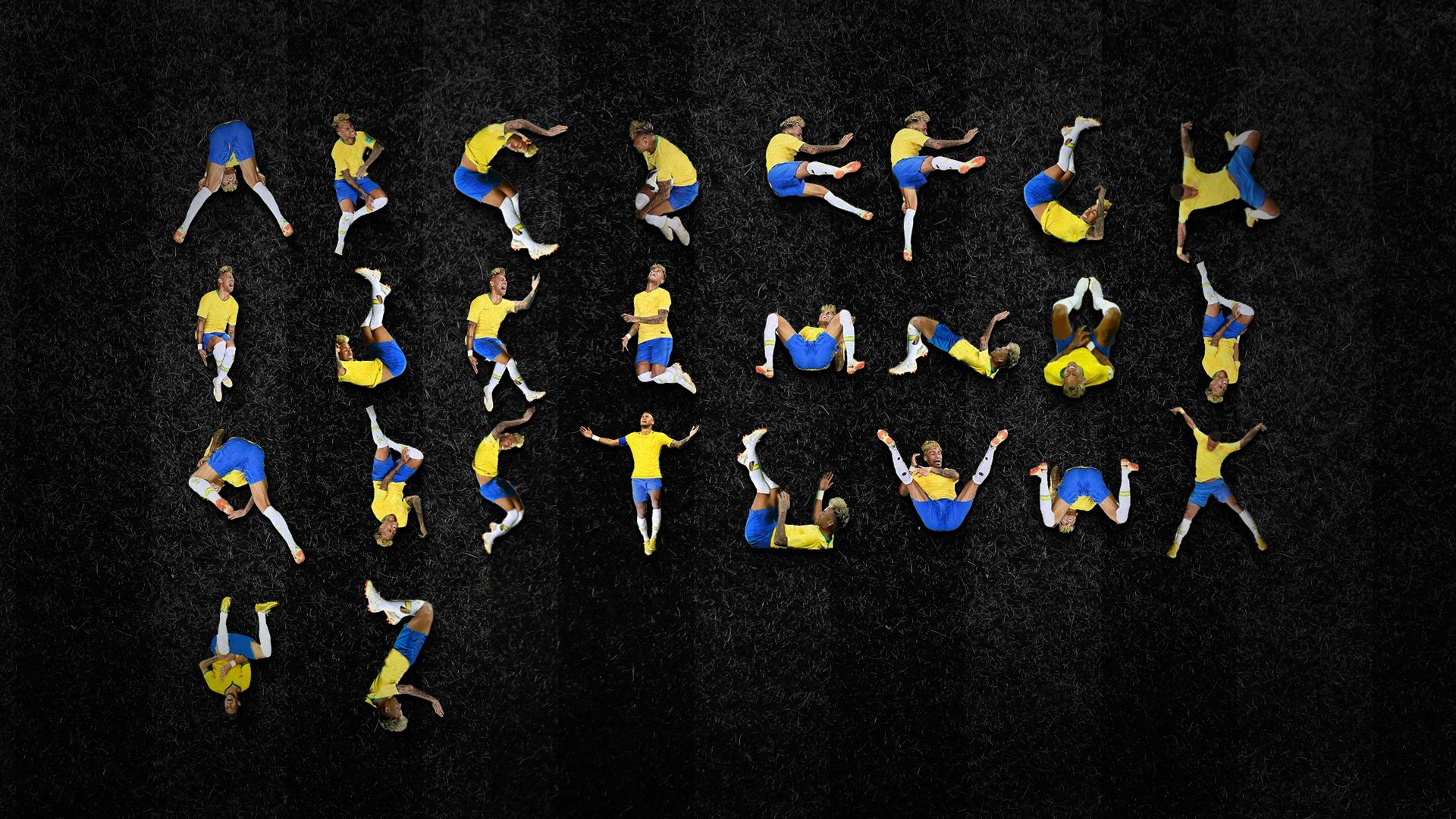 Une police de caractères reprend les roulades de Neymar