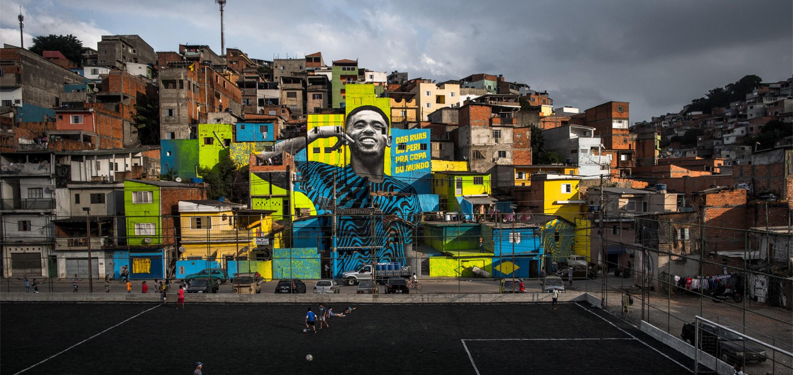 Une fresque géante à Sao Paulo en hommage à Gabriel Jesus