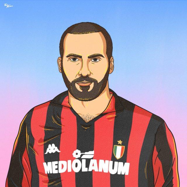 Les stars de Serie A d'aujourd'hui avec les maillots d'hier