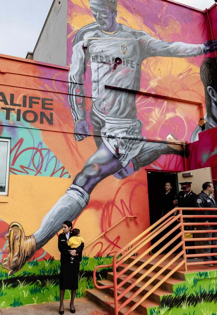 Les LA Galaxy rendent hommage à David Beckham