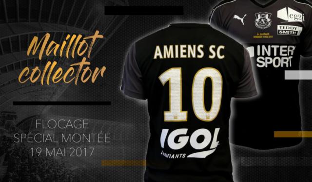 Amiens dévoile un maillot en souvenir de sa montée dans l'élite