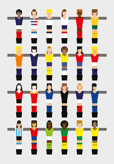 Un concours d'affiches pour le Mondial féminin