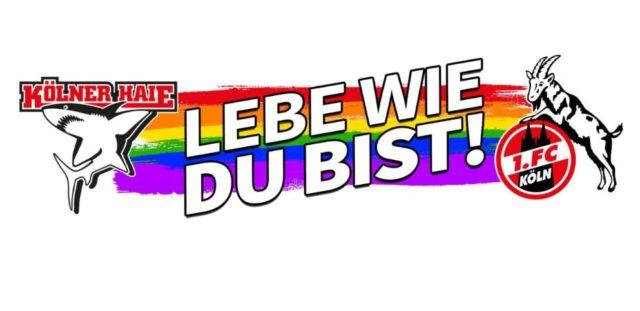 A Köln, les hockeyeurs et les footballeurs en arc-en-ciel pour le Diversity Day