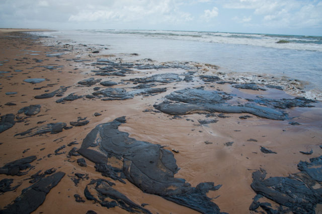 Face à la marée noire, l'EC Bahia présente un maillot tâché d'huile en guise de protestation
