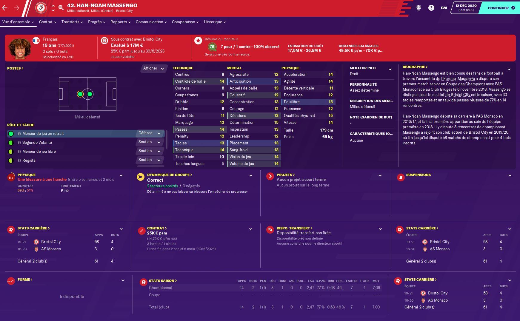 Nos meilleures pépites sur Football Manager 2020 - Partie 2 : les milieux