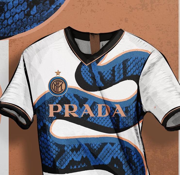 Une collab' de Prada avec l'Inter Milan en conception