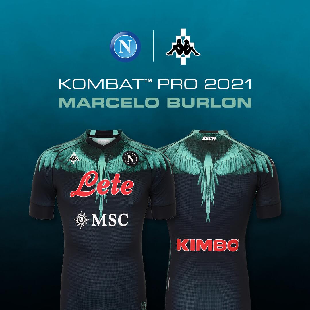 Naples et Marcelo Burlon s'associent pour créer des maillots