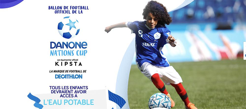 Une bonne cause derrière le ballon Kipsta de la Danone Nations Cup